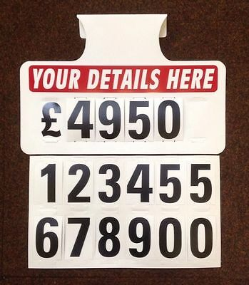 10 X Personalised Visor Price Sets, Car For Sale Signs, Boards, Car Signage