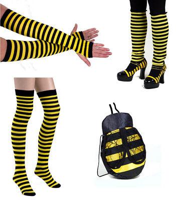 Biene Hummel Zubehör Tier Kostüm: Tasche Strümpfe Armstulpen Beinstulpen
