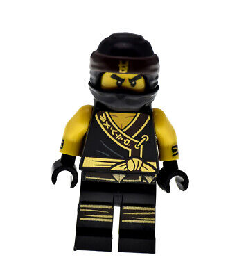 Cole (Ninjago) 70618 njo322 Gold Black Ninja Robe Rare Genuine LEGO Minifigure