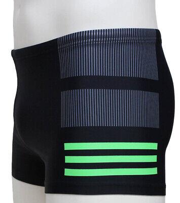 adidas INF Infinitex Colourblock 3-Streifen Boxer Badehose Grau/Grün 5 / 48 / M