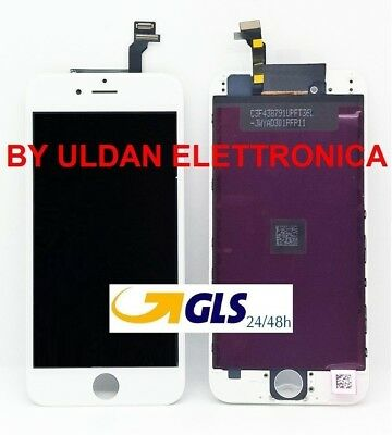 TOUCH SCREEN FRAME VETRO LCD DISPLAY RETINA SCHERMO PER APPLE IPHONE 6 6G BIANCO