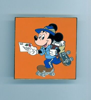 Disney Auctions Roller Skating Mailman Mickey Mouse Postal Employee LE 100 Pin