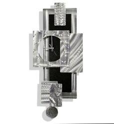 Modern Metal Wall Pendulum Clock  Ultra Modern Art  Home/Office Decor Jon Allen