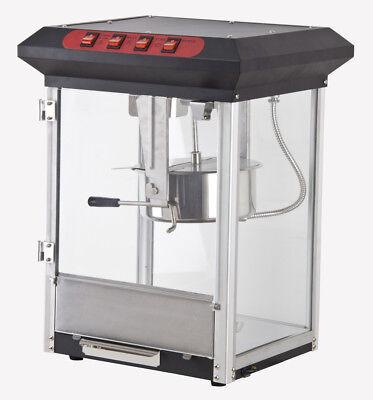 Commercial Retro 8oz Black Top Popcorn Popper Machine