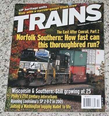Used, TRAINS October 2005 Wisconsin & Southern;NS;Narrow Gauge;UP;Philly;SP  for sale  Shipping to Canada