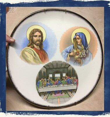 VTG~IVA-LURE by CROOKSVILLE The Last Supper w/Gold Rim Religious Collector (Last Supper Collector Plate)