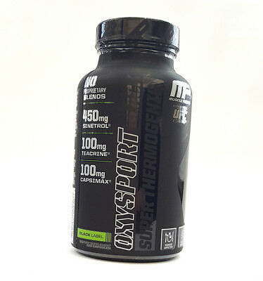 MusclePharm OxySport Black 120 Capsules Thermogenic Fat Burn