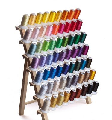Spools Threads Polyester Embroidery Machine Hand Used 68 Pcs/Lot Knitting Supply