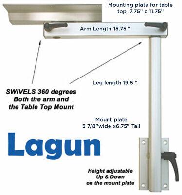 Lagun Swivel Table Leg for RV & Marine w/ Extra Brkt & Hdw-2 MOUNTS TOTAL