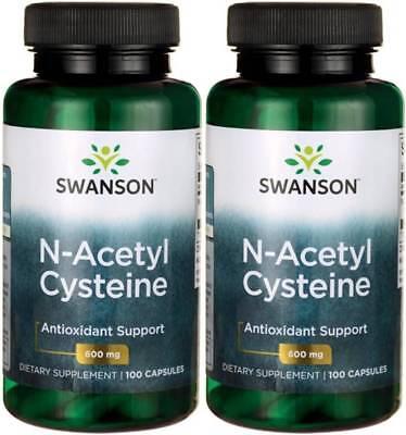 200 Caps Swanson NAC N-Acetyl Cysteine 600mg Liver Health
