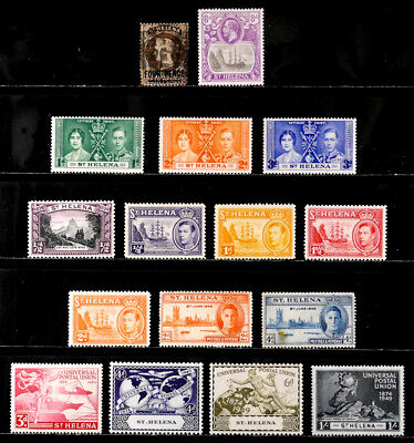 ST. HELENA, BRITISH: CLASSIC ERA STAMP COLLECTION WITH SETS MOSTLY UNUSED