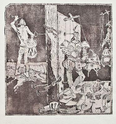 Unbekannter Künstler - Kabinett der Marionetten - Radierung - 1982 - E. A. 1/2