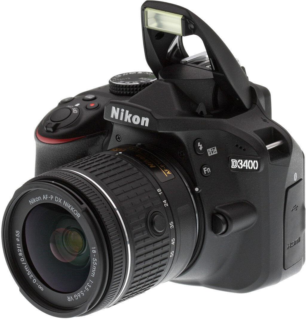 Nikon D3400 24.2 MP Digital SLR Camera with 18-55mm AF-P DX