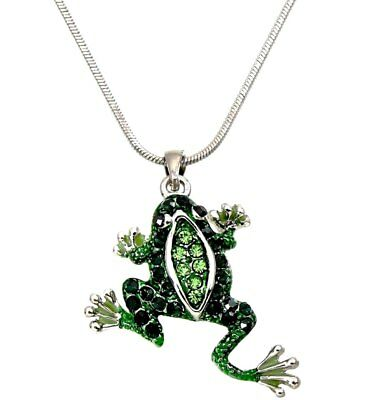 Frog Jewelry - Adorable Little Frog Charm Pendant Necklace Gift Boxed Fashion Jewelry