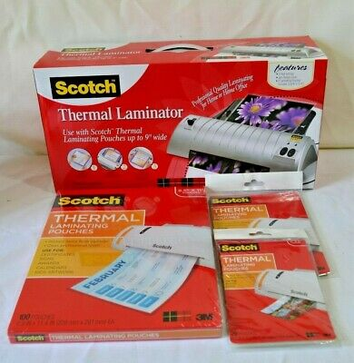 Scotch Professional Quality Thermal Laminator 9x11.4 Tl901 With Pouches Nib