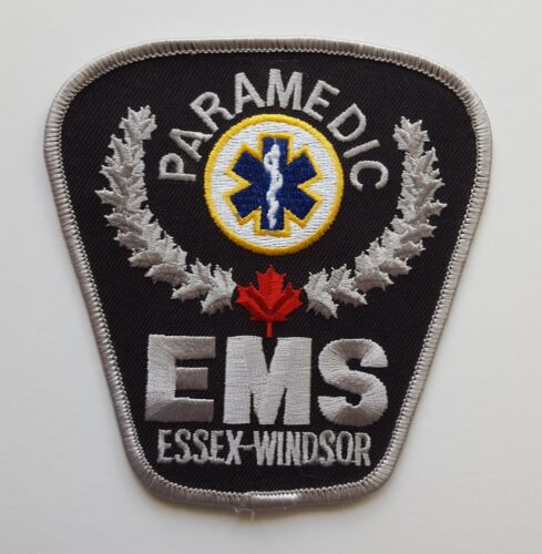 Essex Windsor Ontario Canada EMS Paramedic Ambulance patch #2, new condition