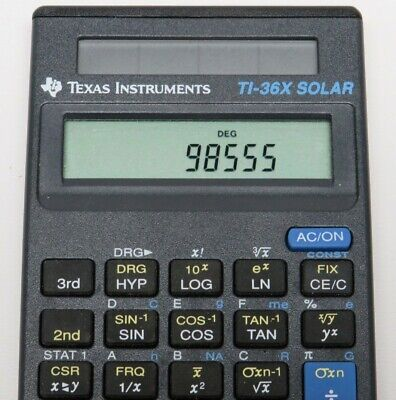 Texas Instrument TI 36x Solar Scientific Calculator Cover & Instructions Tested
