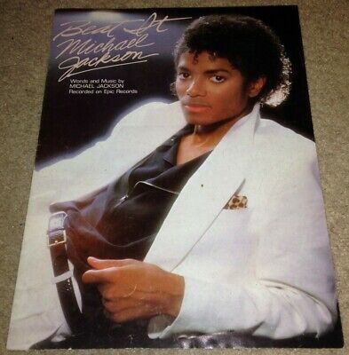 MICHAEL JACKSON Beat It 1983 sheet music piano vocal guitar FIVE 5 Michael Jackson Piano Sheet Music