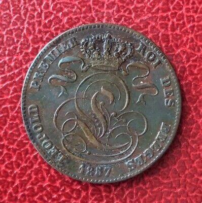 Belgique - Léopold Ier -  Très Jolie  monnaie de 5 Centimes 1857  (2)