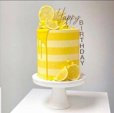 Cake Topper Happy Birthday in Gold Kuchendeko Torte Neuheit Nur hier Einzigartig