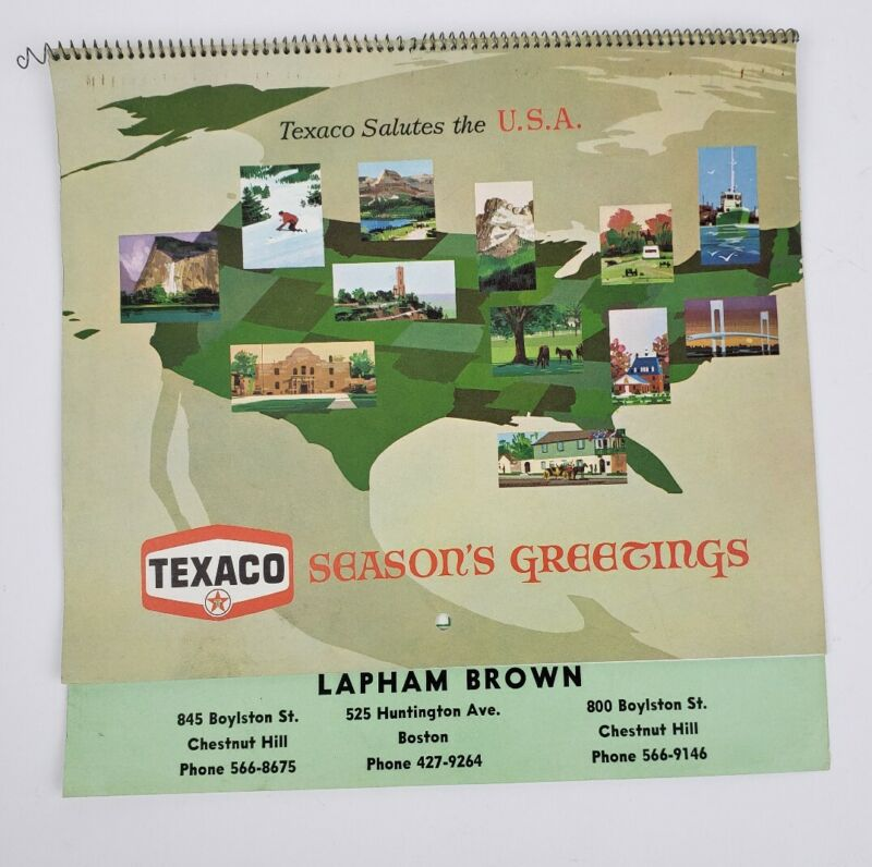 Vintage 1966 Ad/ Dealers Calendar Brooks Texaco Service Advertising