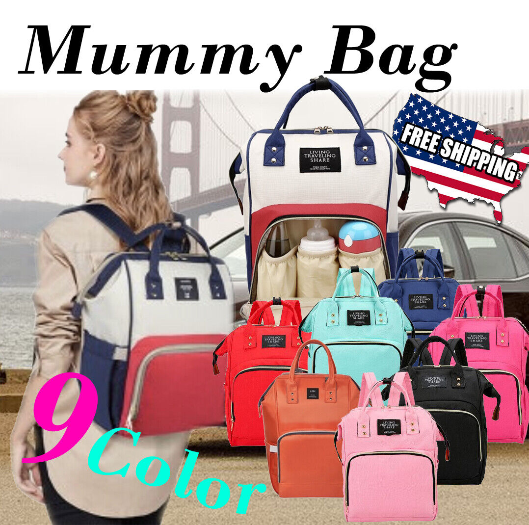 Living Traveling Share Baby Diaper Bag Multi-Function Waterp