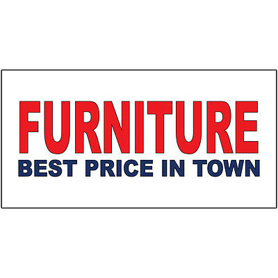 Furniture Best Price In Town Red Blue DECAL STICKER Retail Store (Best Price Retail Store)