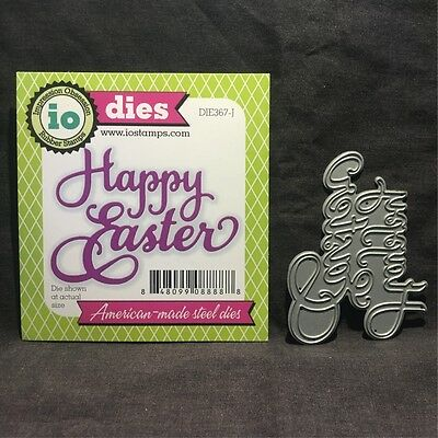 Easter Phrases (Happy Easter script metal die Impression Obsession dies DIE367-J)