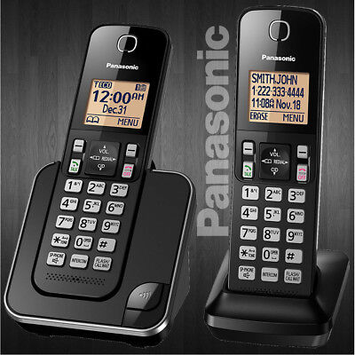 Panasonic DECT 6.0 Plus Cordless 2 Handset Amplified Home Phone Set KX-TGC352B Amplified Cordless Telephone