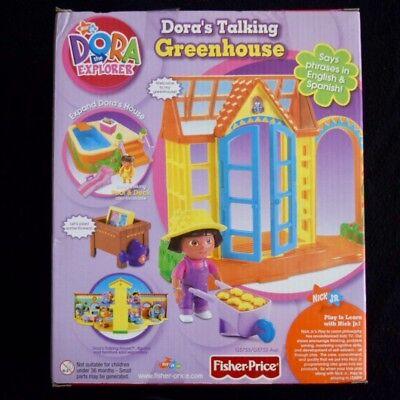 Dora The Explorer Talking Greenhouse Fisher Price Dollhouse Doll Furniture - Dora G