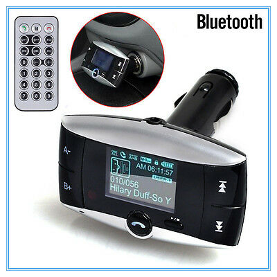 "1.5""LCD Car Kit Bluetooth MP3 Player MMC USB Remote FM Transmitter Modulator@ on Rummage"