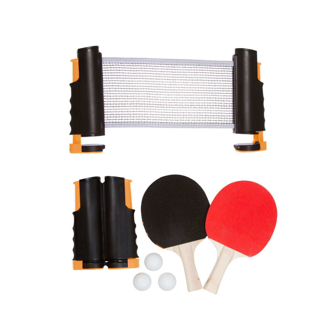 Anywhere Table Tennis Set with Paddles & Balls by Trademark