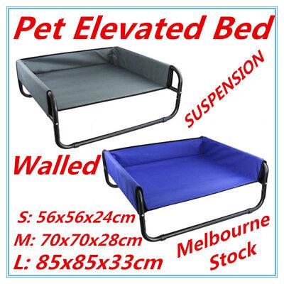 Pet Dog Puppy Cat Elevated WALLED SUSPENSION Bed Trampoline Hammock Heavy Duty