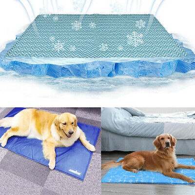 Pet Dog Self Cooling Gel Mat Pad for Kennels Crates and Beds No Need -