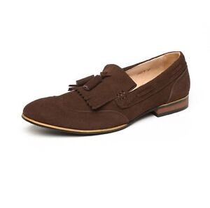 NEW-MENS-SMART-CASUAL-100-GENUINE-REAL-SUEDE-LOAFERS-SIZES-6-7-8-9-10-11-12