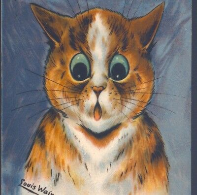 RARE..! SPANISH LOUIS WAIN CAT..