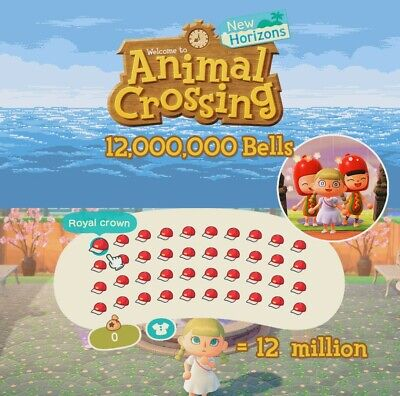 Animal Crossing: New Horizons  12 MILLION BELLS⭐ FAST ! 350+Sold