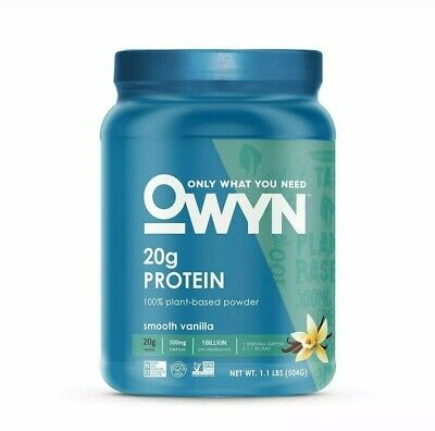 Lot Of 2 OWYN Only What You Need 20 g Protein Vanilla 1.08 lbs ea canister