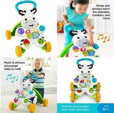 Learn with Me Zebra Walker - Play Laugh & Learn Smart Stages Toy Best Gift NEW.