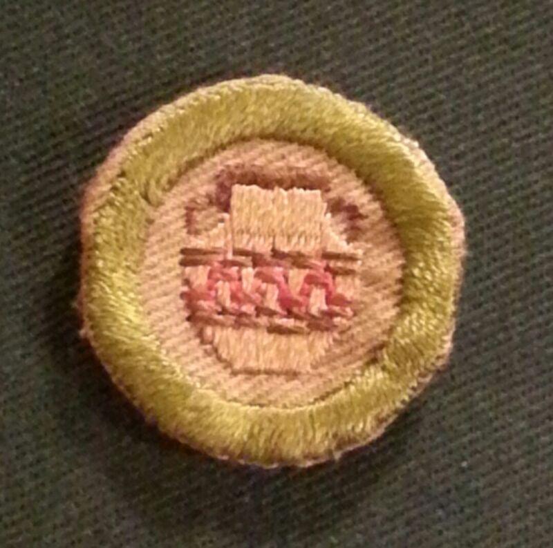 BSA POTTERY MERIT BADGE TYPE C (1936-39) NARROW BORDER  A01607