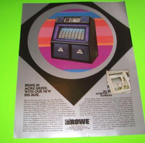 Big Blue Jukebox FLYER Original Rowe Phonograph Music Promo Art Sales Sheet