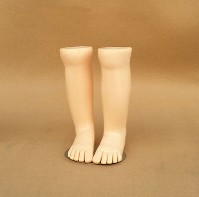 1pair Kids Mannequin Dummy Length Display Socks Tool Plastic Children Torso Feet