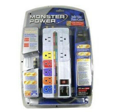 Monster Power Home Theatre PowerCenter HT700 Surge Protector 8 Outlet TV