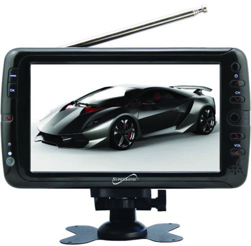 SuperSonic Portable Widescreen LCD Display with Digital TV T
