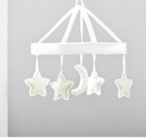 Pottery Barn baby mobile moon & stars with musical arm