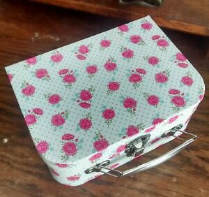 �� Shabby Chic Rose Floral Suitcase Vintage Style Storage Box - Large - NEW ��