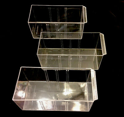 Akro Mils Organizer Replacement Drawer 20-901-b Lot Of 3 Small Clear Bins