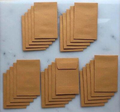 New Lot Of 25 No. 1 Kraft Manila Coin Envelope 2-14 X 3-12 28lb. Stock