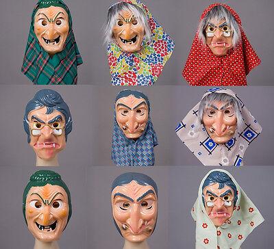Hexenmaske Fasching Kunststoff Maske Halloween Karneval Hexe Märchen Kostüm