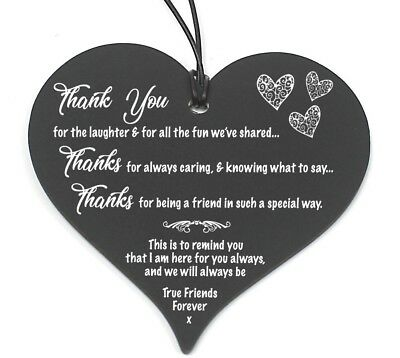 #683 Plaque Sign Good / Best Friend Gift Shabby Chic Heart Birthday Christmas ()